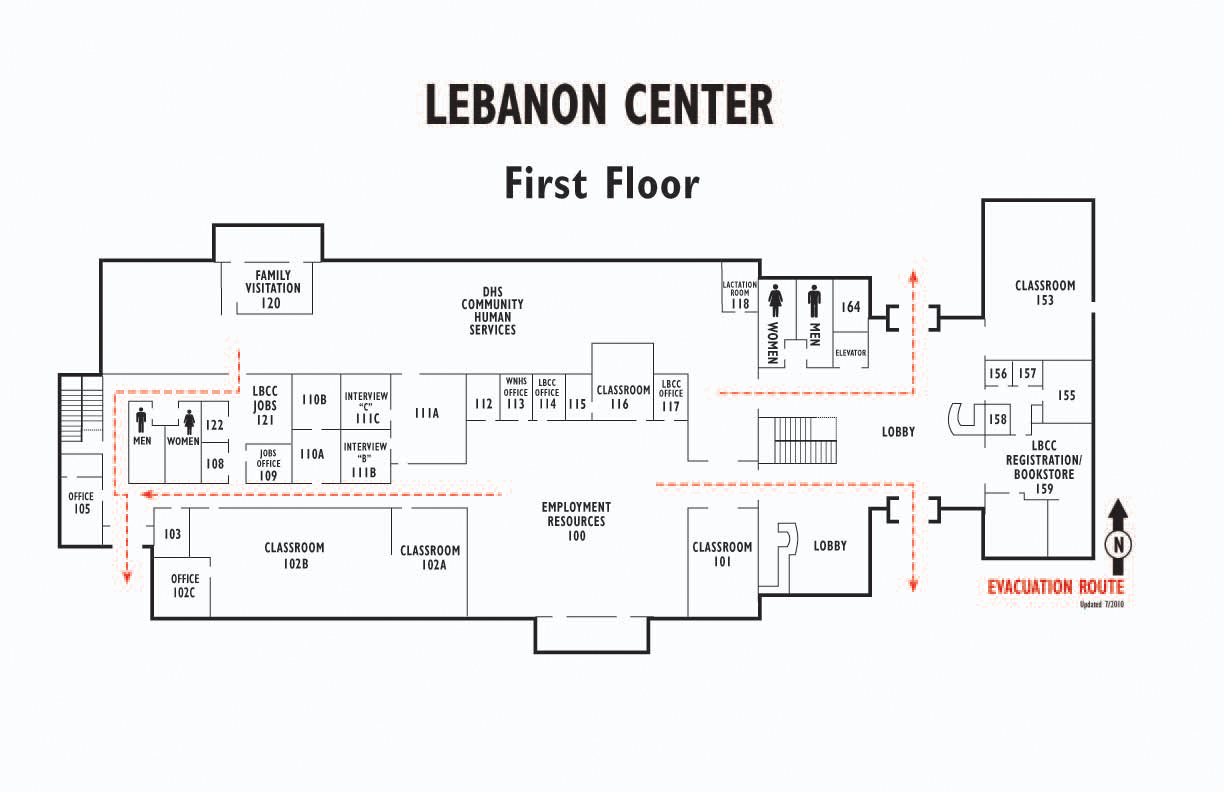 Lebanon center first floor map