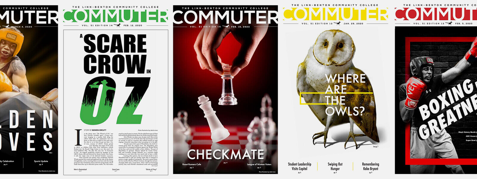 Collage of Commuter newspaper covers