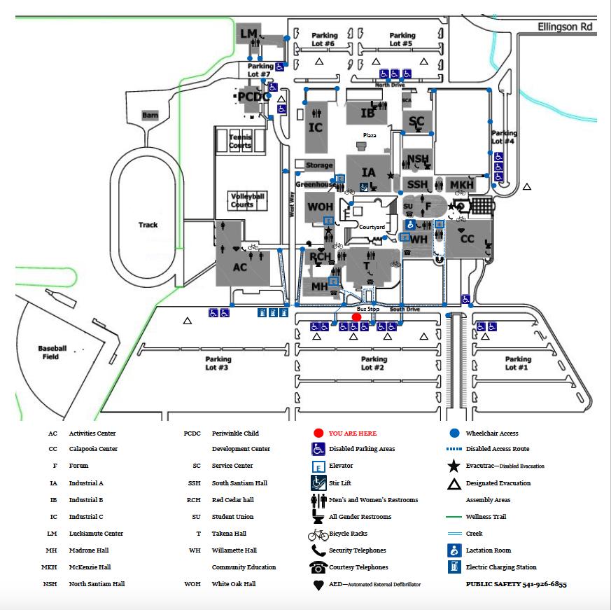 linn benton community college campus map Accessible Routes From Lbcc Parking Lots Lbcc linn benton community college campus map