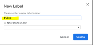 Making a new label form